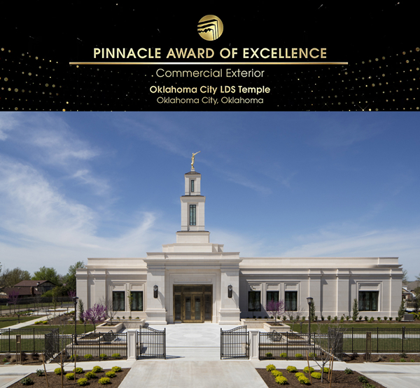 2019 Natural Stone Institute Pinnacle Award of Excellence - Oklahoma City LDS Temple(commercial exterior)